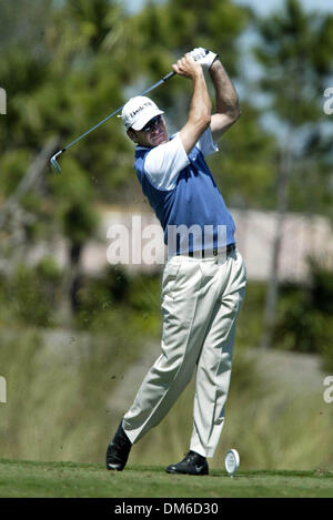 Mar 10, 2005; Palm Beach, FL, USA;  NICK FALDO tees off Thursday at The Honda Classic at Mirasol in Palm Beach Gardens. - Stock Photo