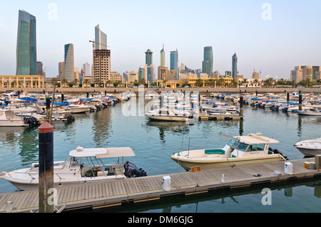 Sultan Mall with marina, Kuwait, Arabian pensinula, Western Asia - Stock Photo