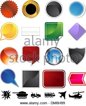 Military Variety Set - Stock Photo