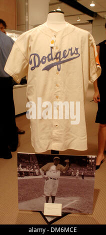 Jun 03, 2005; New York, NY, USA; Babe Ruth's 1938 Brooklyn Dodgers uniform estimated to sell at $150,000 - $200,000. - Stock Photo