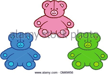 Stitched Bears - Stock Photo