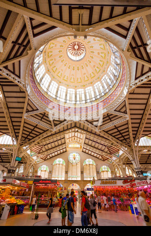 El Mercado Central - central market, Valencia, Spain. - Stock Photo