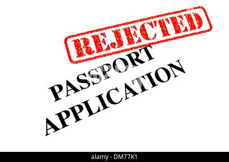 Passport Application has been REJECTED. - Stock Photo