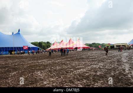 Creamfields organisers have reportedly stopped entry to festival site due to heavy rainfall over last day A statement - Stock Photo