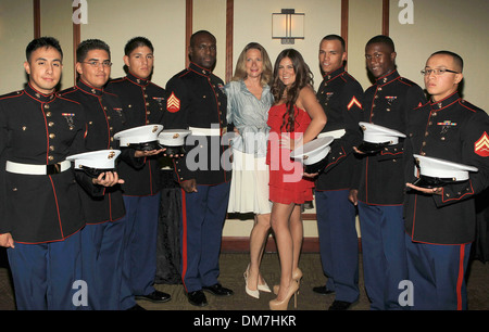 Assemblywoman Betsy Butler Raquel Castaneda with US Marine Corp  Stonewall Young Democrats 6Th Annual Hero Awards - Stock Photo