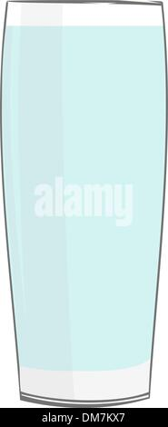 Realistic illustration glass with water - Stock Photo