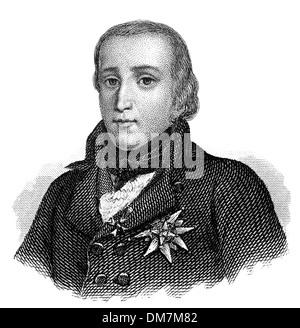 Louis Antoine de Bourbon, Duke of Enghien, 1772 - 1804, a relative of the Bourbon monarchs of France, - Stock Photo