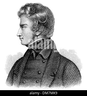 Adam Bernard Mickiewicz, 1798 - 1855, Polish national poet, publicist, translator, - Stock Photo