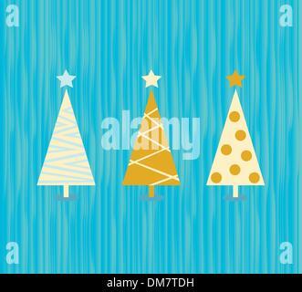 Vintage christmas tree pattern - Stock Photo