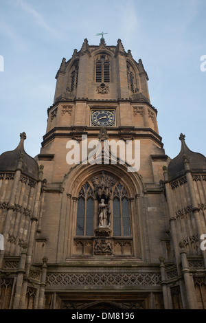 Entrance to Christ Church College Oxford University - Stock Photo