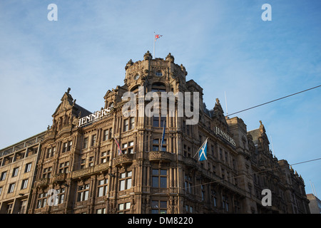 Exterior of the Jenners department store on Princes Street in Edinburgh city centre - Stock Photo