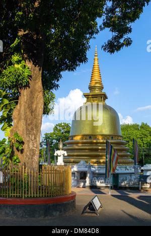 Sri Lanka, Danbulla, a stupa at the entrance of the Golden Temple - Stock Photo
