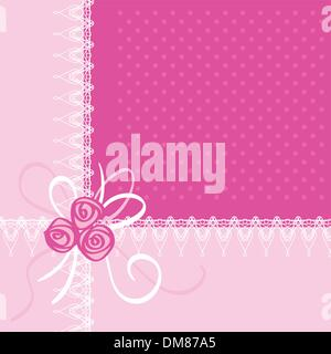 Greeting Card with Rose Flowers Vector Illustration - Stock Photo