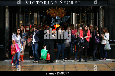 Exterior Views Victoria's Secret London flagship store launch on Bond Street London England - 29.08.12 - Stock Photo