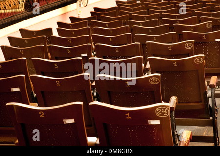 Empty theater seats, Teatro Tomas terry, Cienfuegos, Cuba, Caribbean - Stock Photo