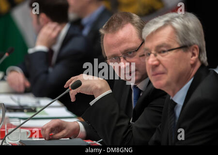 Berlin, Germany. 12th Dec, 2013. Meeting/Conference of the heads of government of the Germany Federal states at - Stock Photo
