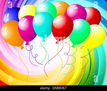 festive color rays - Stock Photo
