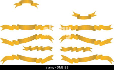 Golden banners - Stock Photo