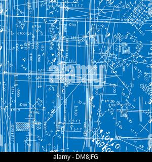 seamless vector simulating engineering blueprint - Stock Photo