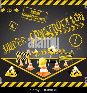 Under construction warning - Stock Photo