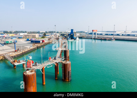 Empty ferry births at the port of Dunkirk, France. - Stock Photo