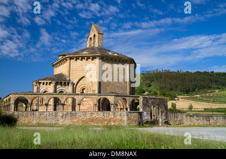 Church of Saint Mary of Eunate along the Camino De Santiago, the Way of St. James pilgrimage route, Navarra, Spain. - Stock Photo
