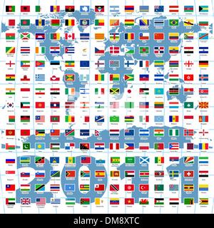 2010 Year. Complete set of Flags of the world - Stock Photo