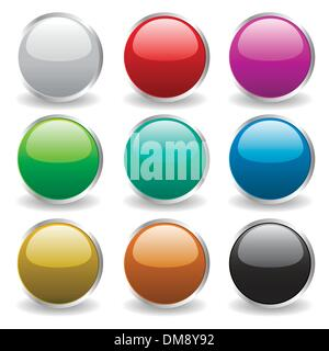 glossy buttons - Stock Photo