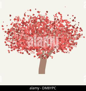Vector valentine tree. EPS 8 - Stock Photo