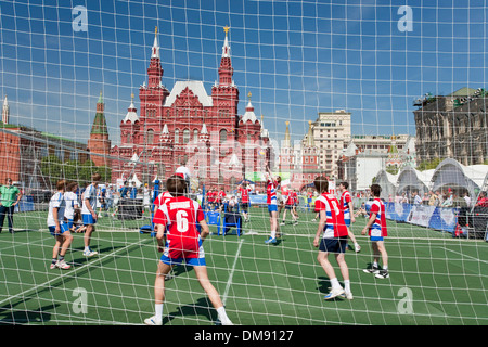 Volleyball game on Red Square Moscow - Stock Photo