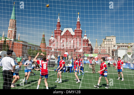 Volleyball game on Red Square - Stock Photo