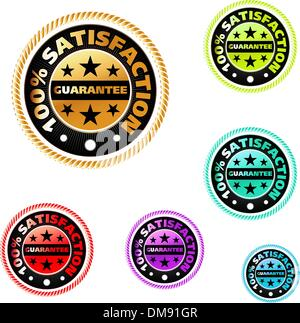 Vector multicolor satisfaction labels set. EPS 8 - Stock Photo