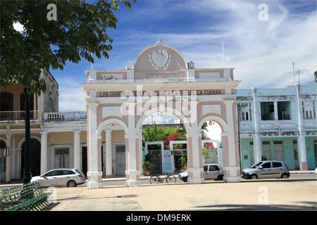 Arco de Triunfo, Parque José Martí, Cienfuegos, Cienfuegos province, Cuba, Caribbean Sea, Central America - Stock Photo