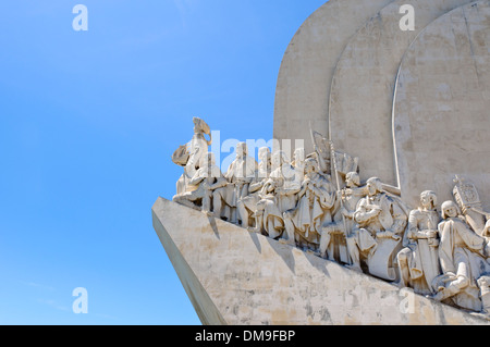 Monument to the Discoveries, Padrão dos Descobrimentos, Lisbon, Portugal, Europe - Stock Photo