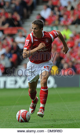 Chris Cohen of Nottingham Forest..Coca Cola Championship..Nottingham Forest v Derby County..29th August, 2009.(Credit - Stock Photo