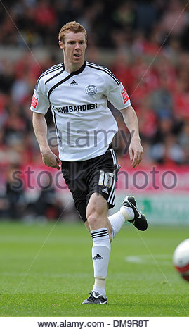 Stephen Pearson of Derby County..Coca Cola Championship..Nottingham Forest v Derby County..29th August, 2009.(Credit - Stock Photo