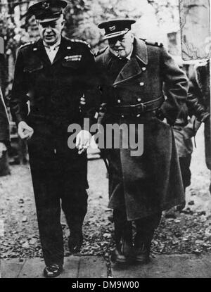 June 1, 1944 - Normandy, France - SIR WINSTON CHURCHILL (1874-1965) was a British politician and statesman who served - Stock Photo