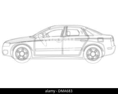 auto sketch vector - Stock Photo