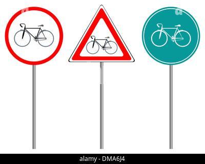 bike traffic signs - Stock Photo