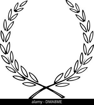 Simple vector wreath for diploma. - Stock Photo