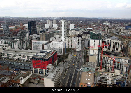The Birmingham city centre skyline. - Stock Photo
