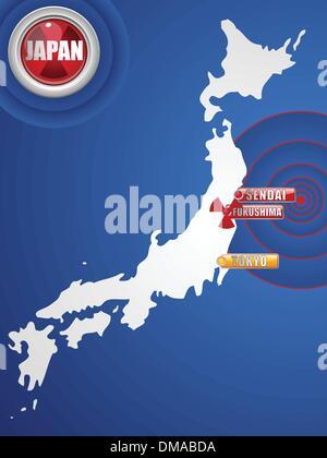 Japan Earthquake and Tsunami Disaster 2011 - Stock Photo