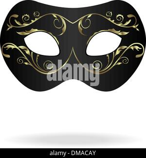 Illustration of realistic carnival or theater mask - Stock Photo