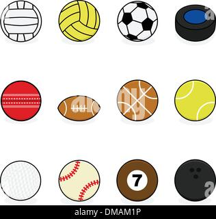 Sports balls - Stock Photo