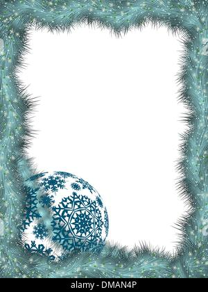 Christmas ard template with gold Ball. EPS8 - Stock Photo