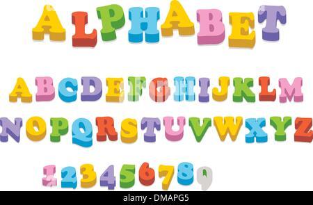 Vector fridge magnet alphabet spelling letters - Stock Photo
