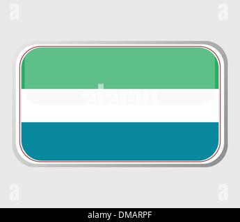 Flag of sierra leone in the form . vector - Stock Photo