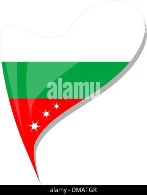 bulgaria in heart. Icon of bulgaria national flag. vector - Stock Photo