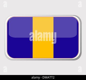 Flag of barbados in the form. vector - Stock Photo