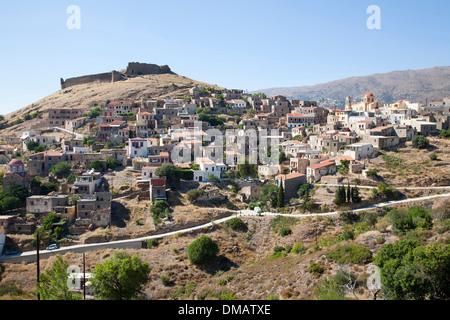 volissos village, island of chios, north east aegean sea, greece, europe - Stock Photo